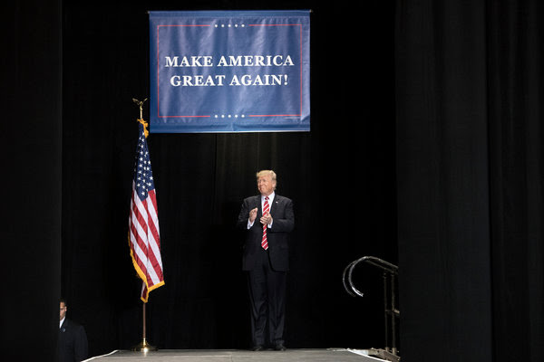 President Trump at a rally last week in Phoenix, where he signaled he might pardon Joe Arpaio.
