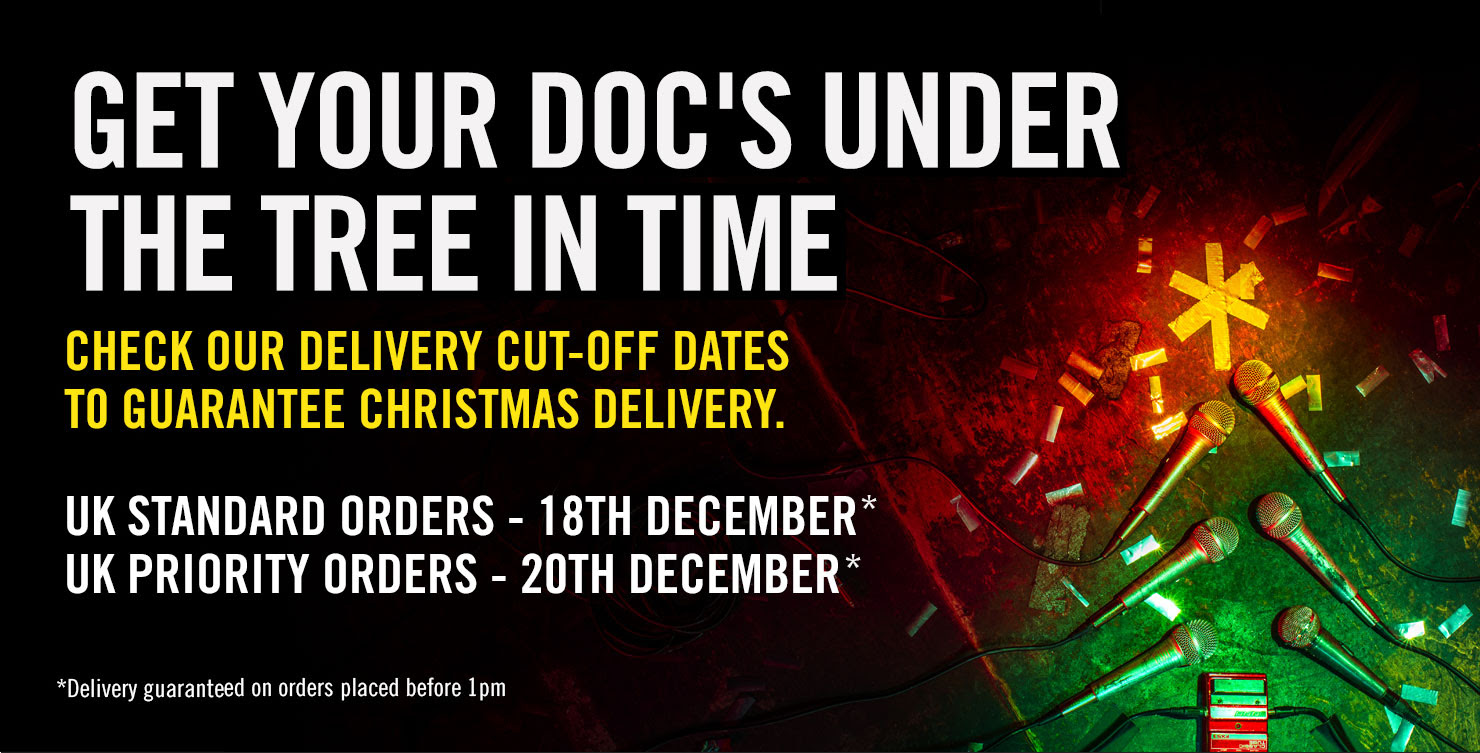 GET YOUR DOC'S UNDER THE TREE IN TIME - Check our delivery cut-off dates to guarantee Christmas delivery - UK Standard orders - 18th December*, UK Priority orders - 20th December* Delivery guaranteed on orders placed before 1pm
