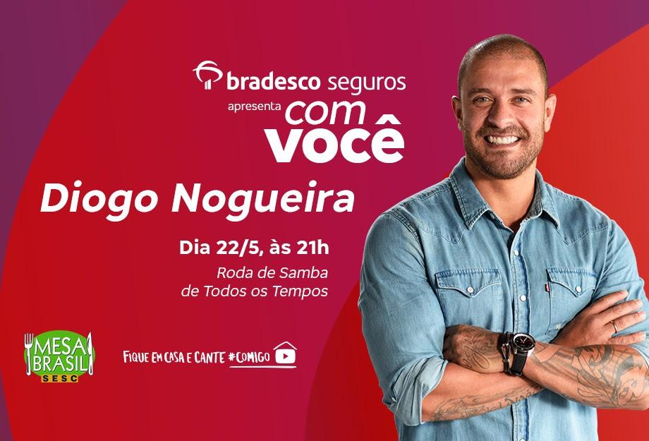 """Diogo Nogueira apresenta a """"Roda de Samba de Todos os Tempos"""" na plataforma """"Com Você"""" da Bradesco Seguros"""