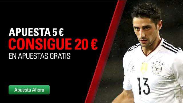 Apuesta 5 € Consigue 20 € en BetStars