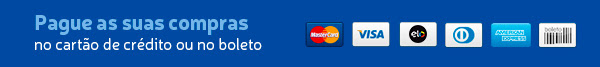 Pague as suas compras no cartão de crédito ou no boleto