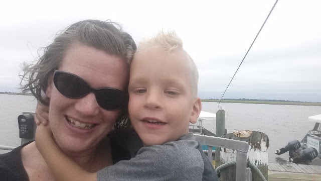 Robyn Martin and her son Jax.