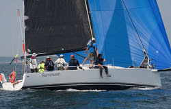 J/111 sailing Marblehead to Halifax race