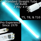 Straight Tube UV Bulbs, Replacement Lamps