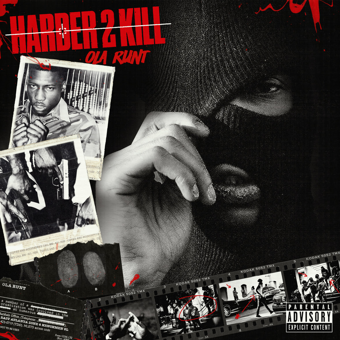 Ola Runt Harder 2 Kill Mixtape Artwork