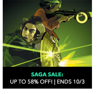 Saga Sale: up to 58% off! Sale ends 10/3.