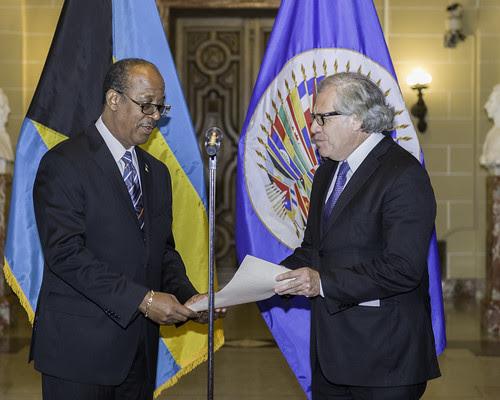 Nuevo Representante Permanente de Bahamas ante la OEA presentó credenciales