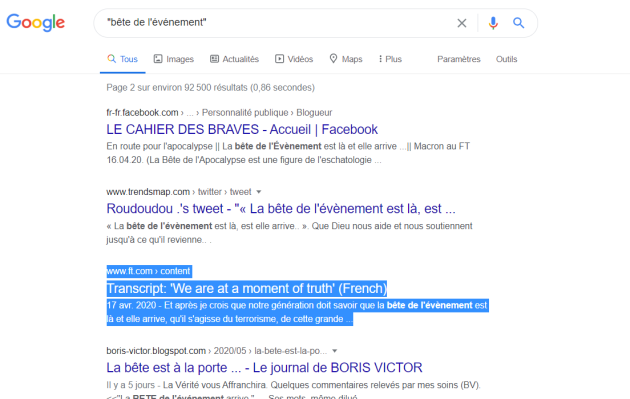 """Macron et""""l'arrivée de la Bête """" (sa petite phrase du 22 mai 2020)  8af879c_oDSP7E3VE0X17fN1ljO7o2jq"""