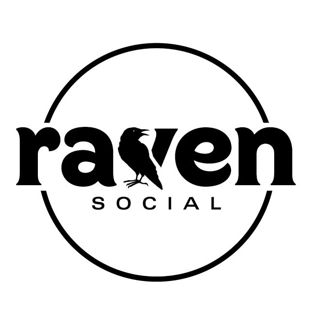 Raven social media photo booth logo