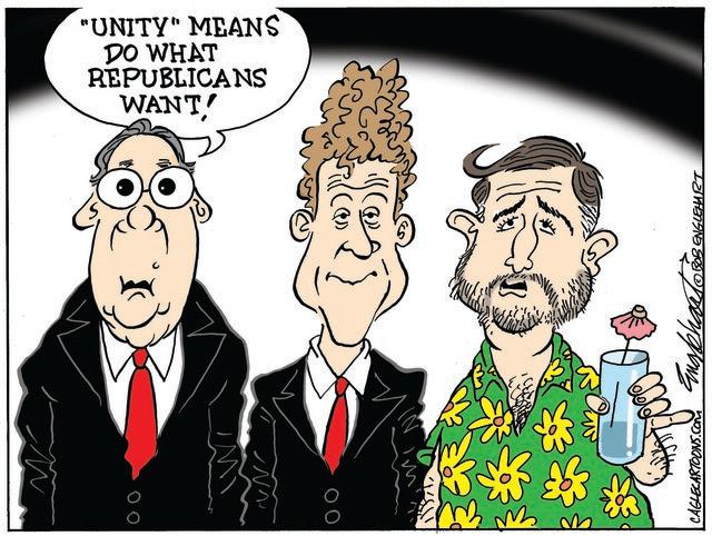 Republicans define unity as having it all their way.