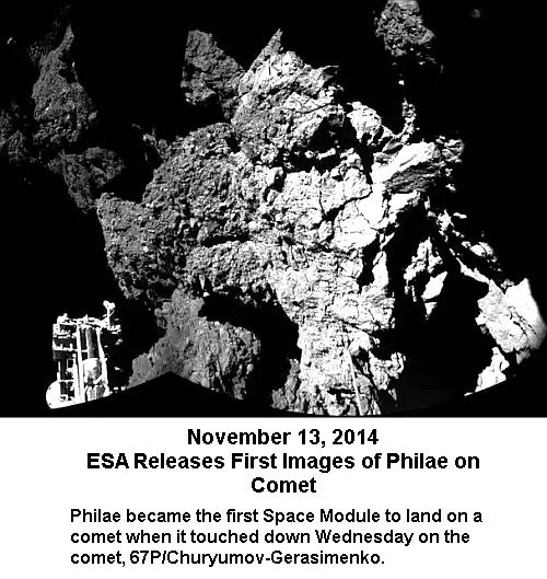 First comet image from Philae