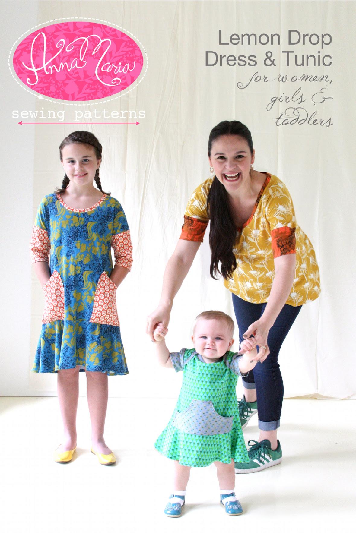 anna maria horner lemon drop dress and tunic sewing pattern