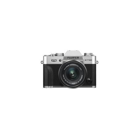 X-T30 Mirrorless Digital Camera with XC 15-45mm F3.5-5.6 OIS PZ Lens, Silver