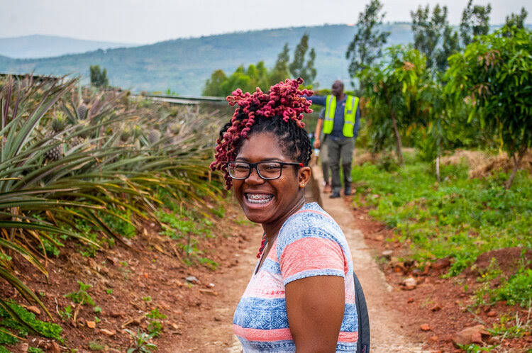 A student enjoying a Kerry Jon Walker Fund intercultural learning trip in Rwanda, image by Kerry Fund Global Connections student, Khalid Mohamed