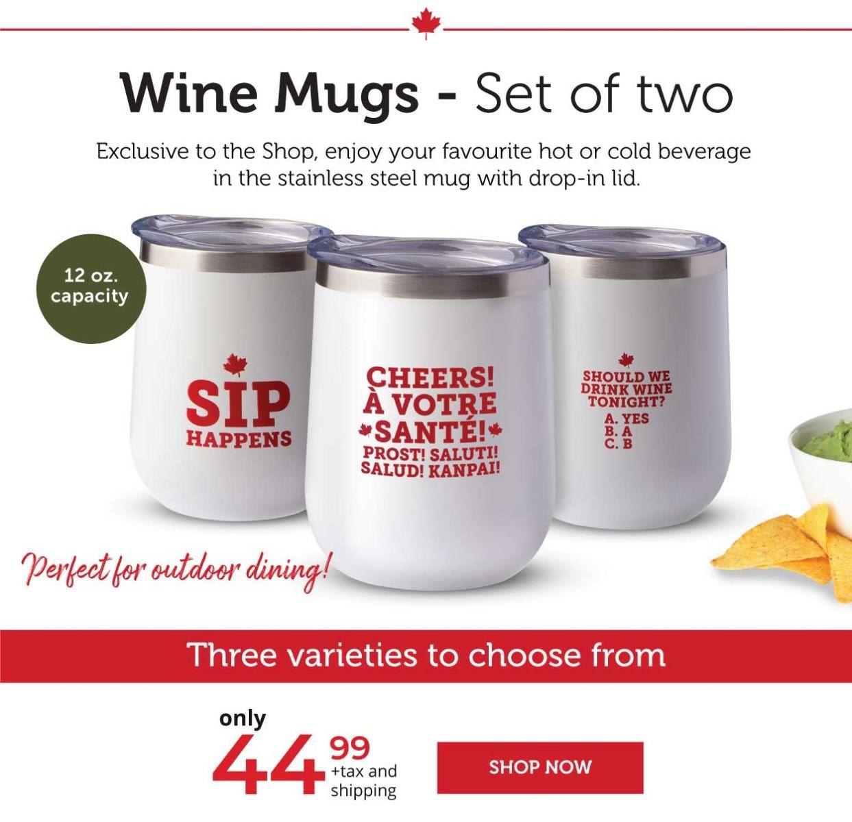Wine Mugs - Set of two