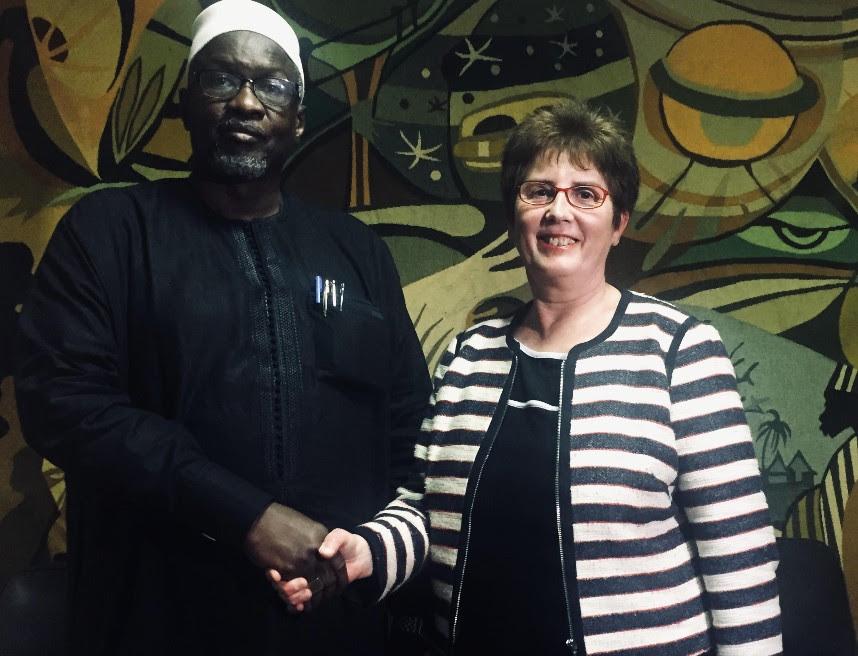 Siré Dia, CEO de La Poste du Sénégal et Catherine Wine, co-fondatrice de WorldRemit