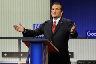 Presidential contender and U.S. Sen. Ted Cruz at the Fox News - Google GOP debate in Des Moines, Iowa on Jan. 28, 2016.