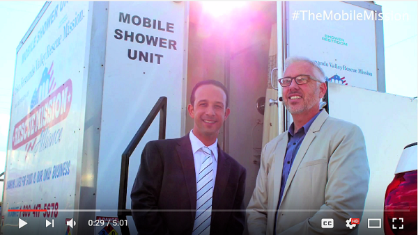 Mission Accomplished: Mobile Shower Unit Fully Funded - Councilmember Mitchell Englander E-Video