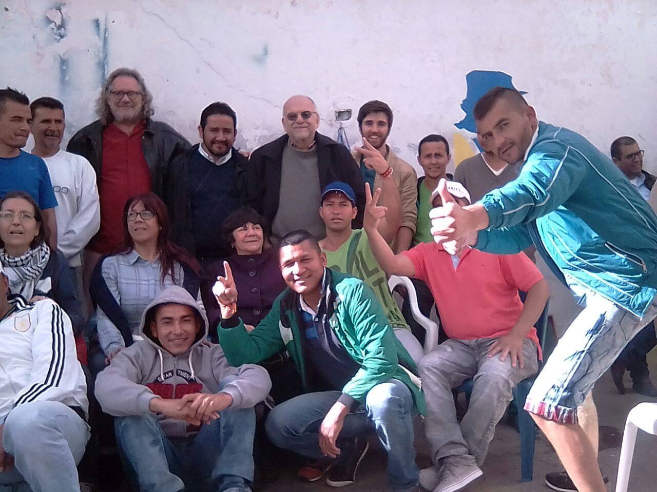 At the Chiquinquirá Prison with the FARC-EP political prisoners