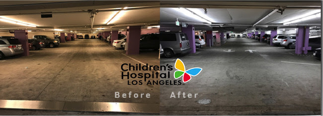 Fluorescent T8 lighting Before / LED T8 Lighting After