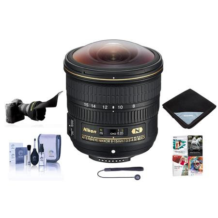 8-15mm f/3.5-4.5E EDIF AF-S Fisheye NIKKOR Lens - Nikon U.S.A. Warranty - Bundle With Flex