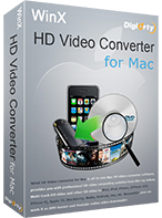 WinX HD Video Converter for Mac - Lifetime / 1 PC (35% Off)