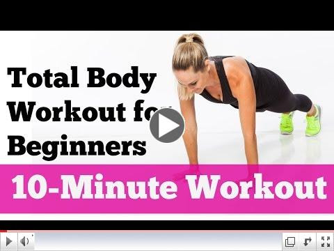 Total Body Workout for Beginners: Ten Minute Workout by Jessica Smith No Equipment Needed
