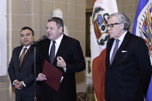 Nuevo Embajador de Perú ante la OEA presenta credenciales<br>