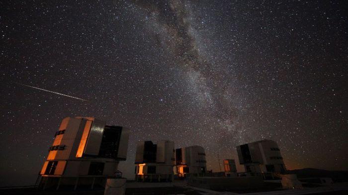 VLT et étoiles filantes
