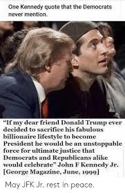 jfk jr trump friends