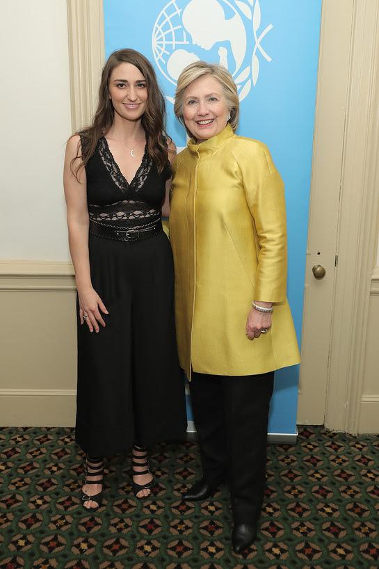 Sara Bareilles and Hillary Clinton attend the 12th annual UNICEF Snowflake Ball
