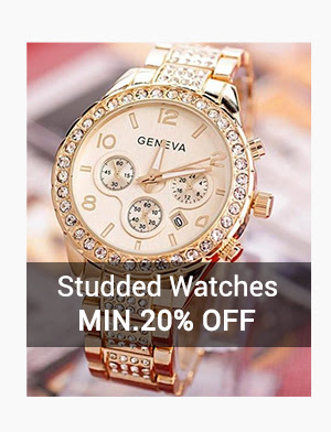 Studded Watches at Min.20% Off