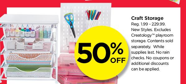 50% OFF Craft Storage
