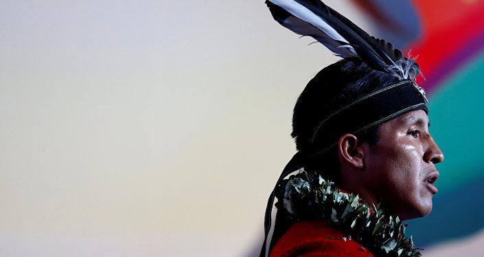 Un hombre indígena de Ecuador (imagen referencial)