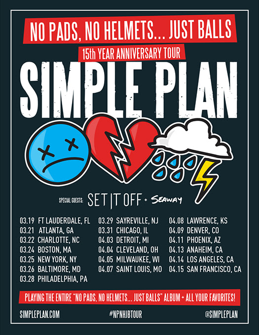Simple Plan 2017 Tour Dates