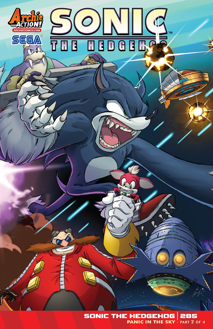 SONIC THE HEDGEHOG #285 Cover by Dan Schoening