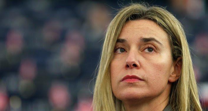 Federica Mogherini, alta representante para Asuntos Exteriores de UE