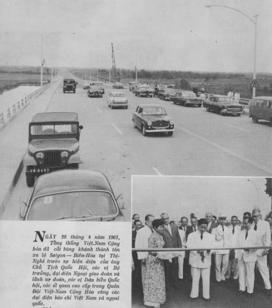 Xa lộ Biên Hòa (Tổng thống Ngô Đình Diệm khánh thành ngày 28/4/1961)