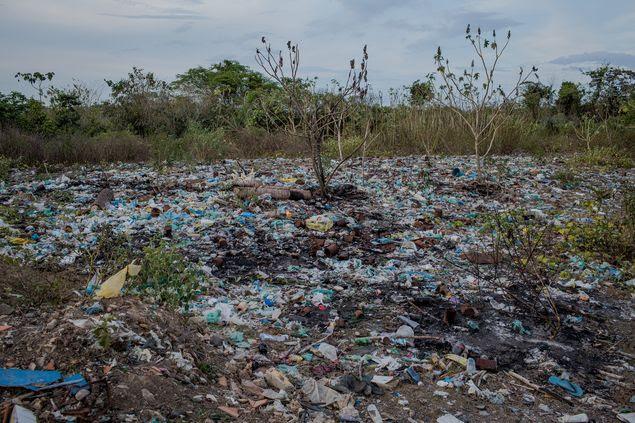 Lixão da cidade de Presidente Sarney, no Maranhão