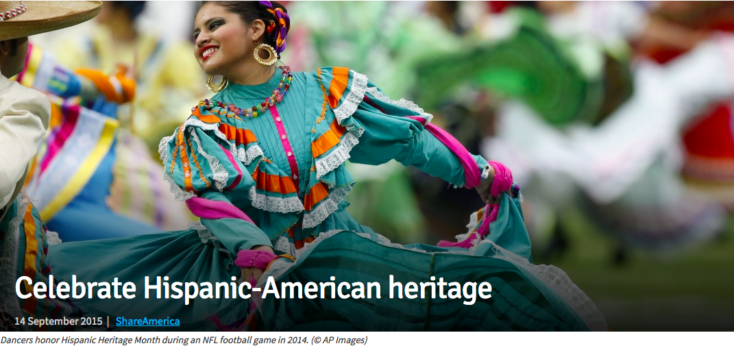 Learn more about Hispanic Heritage Month with ShareAmerica
