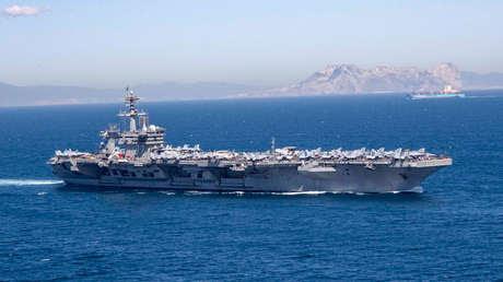 El  portaviones USS Abraham Lincoln