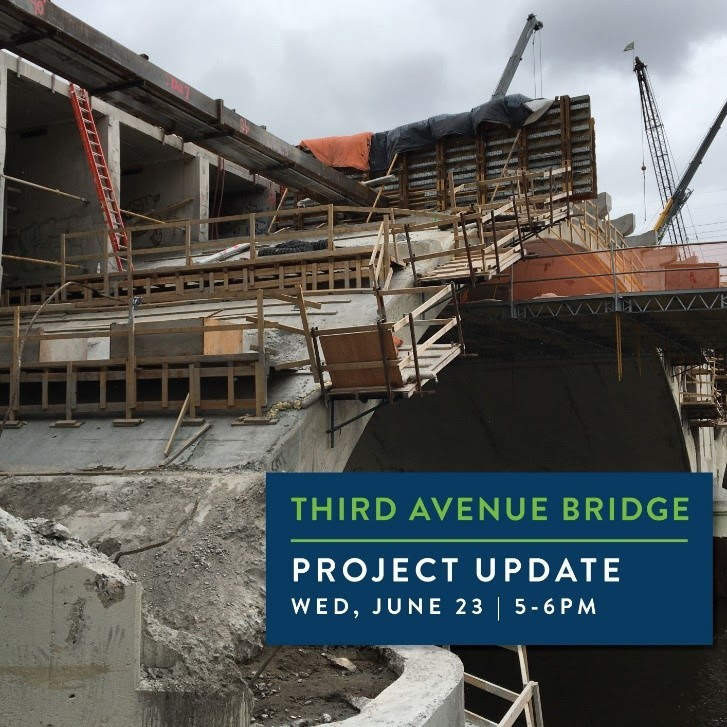 Third Avenue Bridge project update on Wednesday, June 23 from 5-6 p.m.