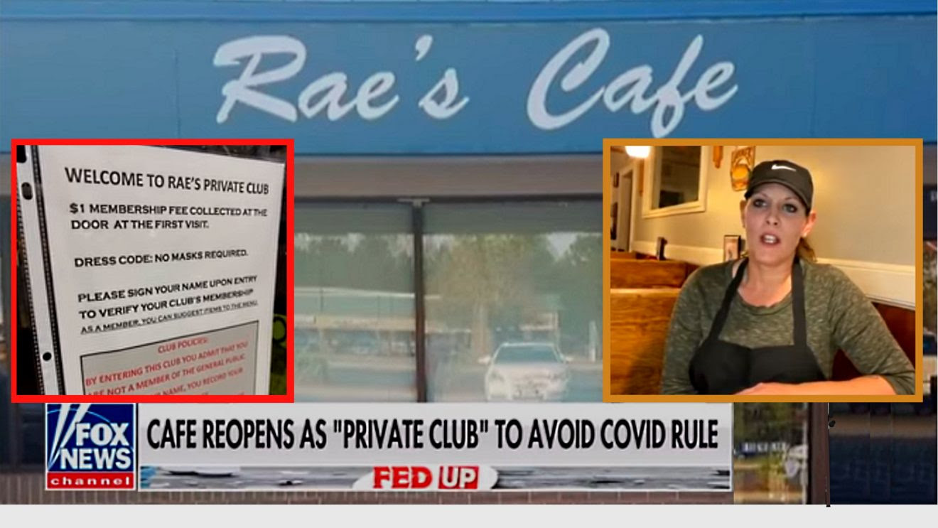 Missouri Cafe Reopens as Private Members Club to Avoid Mask Mandate Raes-1320x743