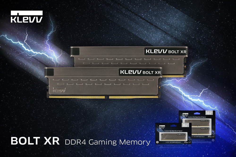 Enable images or just imagine how amazing the KLEVV BOLT XR DDR4 Gaming Memory looks like..