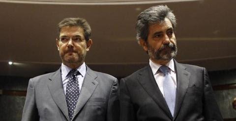 Rafael Catalá y Carlos Lesmes