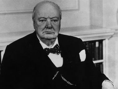 Winston Churchill in this archival photo. Getty Images