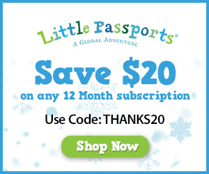 Little Passports: $20 off any.