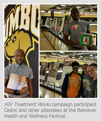 HIV Treatment Works campaign participant Cedric and other attendees at the Retriever Health and Wellness Festival.