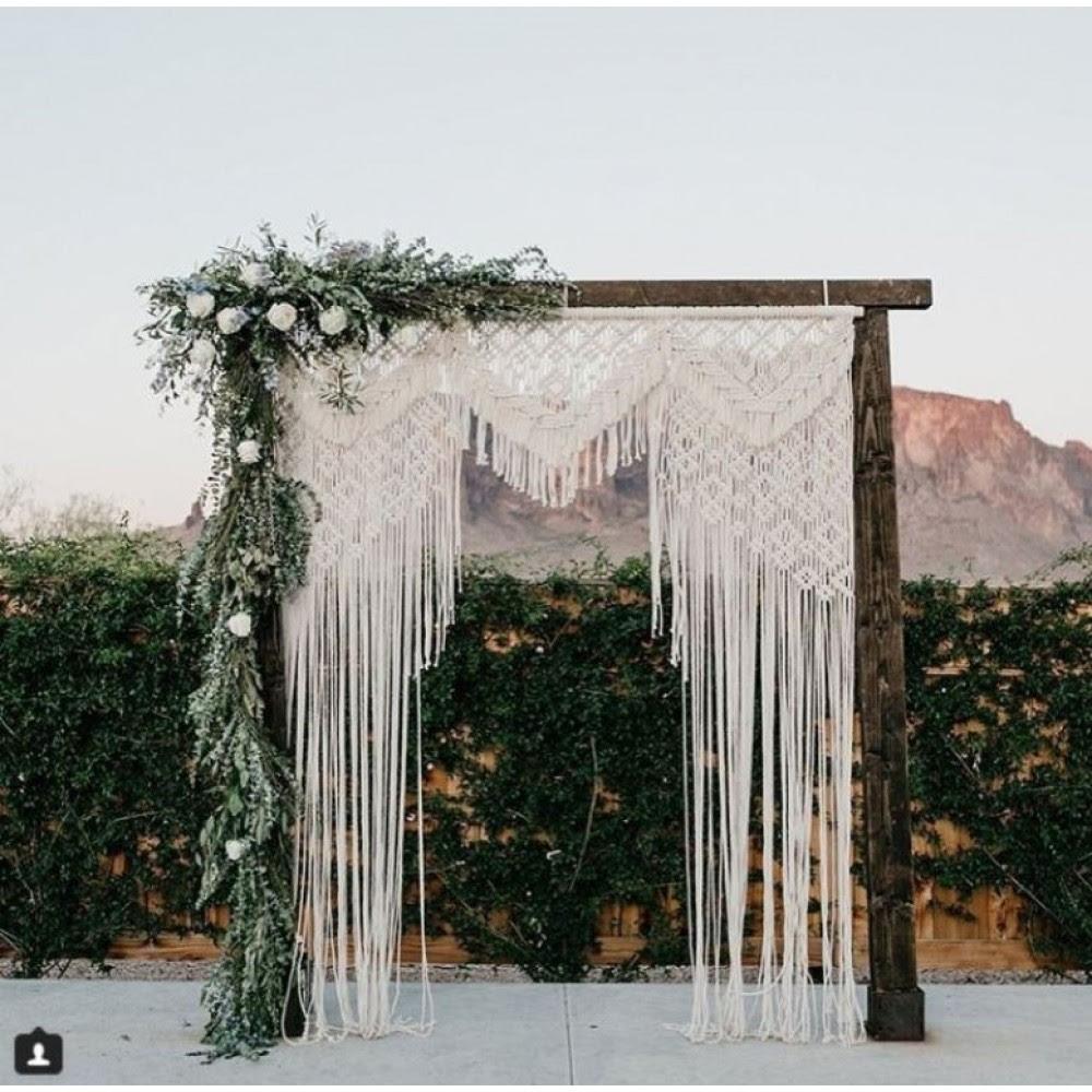 Macramae Ideas Wedding Arch: New Large Macrame Wall Hanging Woven Tapestry Yarn Curtain
