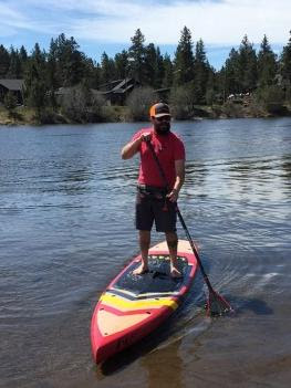 Celilo Paddle on the water
